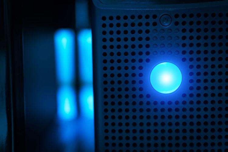 Close-up of desktop pc