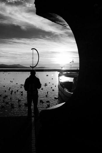 B&w Street Photography Fakeormistake Lake Switzerland Lac Léman Sunset Lausanne Ouchy