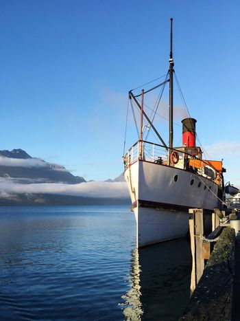 Mountains And Sky Mountain Mountain View Mountains Queenstown Queenstown Newzealand Queenstown Nz Here Belongs To Me TSSEarnslaw Earnslaw TSS Earnslaw Lake Blue Blue Sky Steam Boat Steam Ship Things I Like