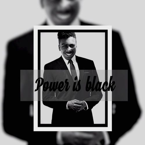 Power is black. Power Blackandwhite Photography Son