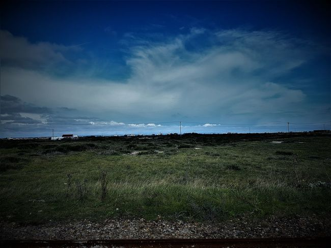 Dungeness Station RH&DR and Countryside 2017 2017 2017 Year 2017 Photo Dungeness Kent Great Britain Kent UK RH&DR Romney Hythe And Dymchurch Railway Romney, Hythe & Dymchurch Railway Travel Travel Photography United Kingdom Beauty In Nature Day Field Grass Kent England Landscape Nature No People Outdoors Sky Travel And Leisure Travel And Tourism Travelphotography