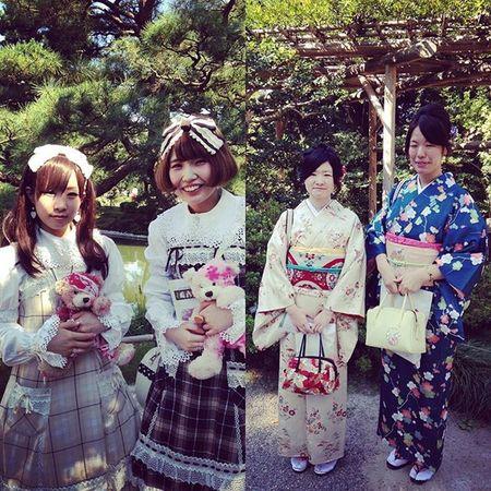 This is why I love Japanese pop culture 😀 Japanesestreetfashion KAWAII Mori Morikei Tokyofashion Streetsnaps Shironuri Harajuku Travel Travelphotography