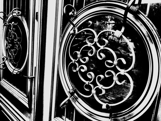 No People Day Pattern Entrance Doors Old-fashioned Old Style Glass Kamienica Szczecin Love My City
