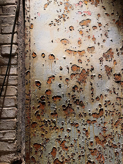 Full frame shot of rusty wall