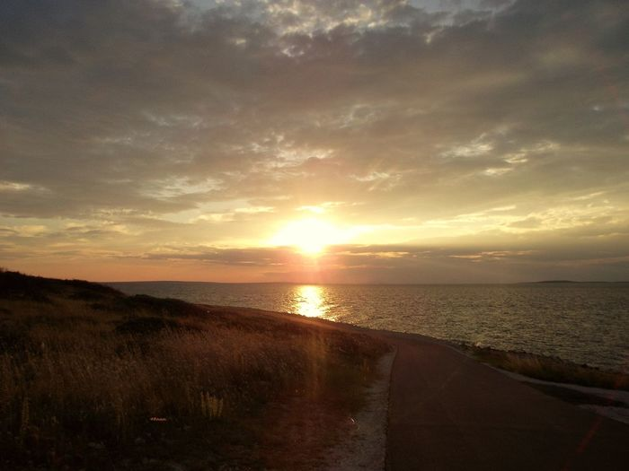 Beauty In Nature Horizon Over Water Love MyPhotography Nature Ocean Sunset Travel Photography Vír Croatia