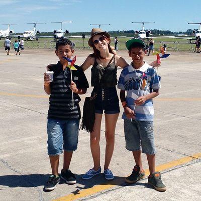 Eu, minha filha @bversuri e meus sobrinhos na festa da Embraer. Temvalorpramim