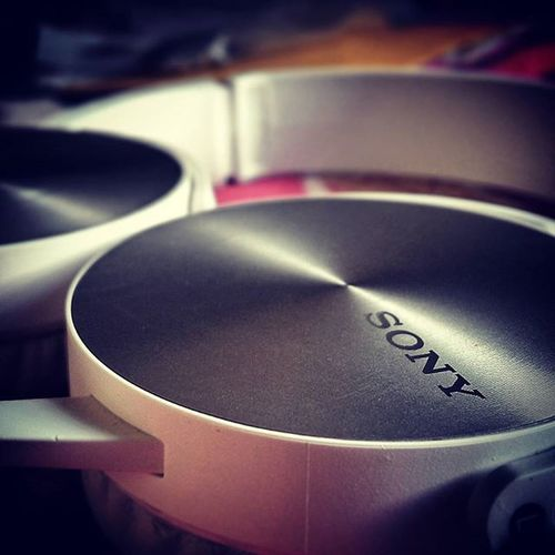 New Headphones Sony Extrabass Mdrxb450 Cool Nice Random Pic Photography Metal Look Perfect Music Peace