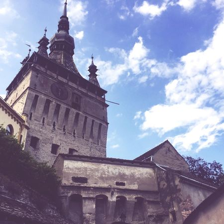 Architecture Sky Building Exterior Low Angle View Travel Destinations Cloud - Sky Tower History Spirituality Cultures City Romania Sighisoara