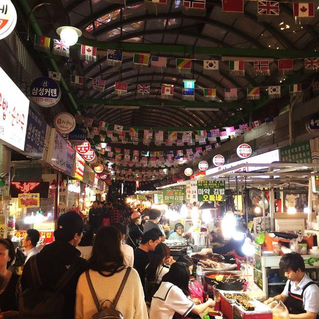 South Korea Jongno Market Affectionate People 종로 광장시장 동대문
