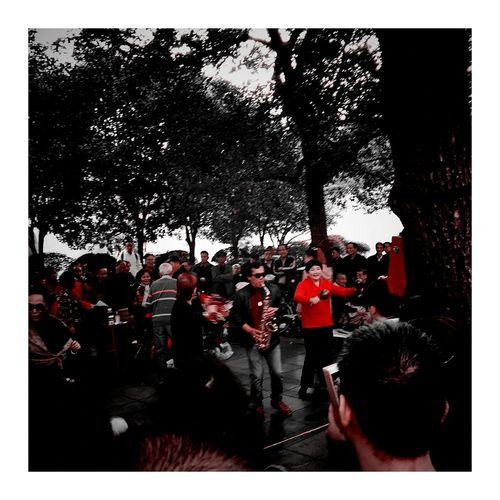 乐 舞蹈 Dance 舞 Red Outdoors Day City Shanghai, China, Chinese, Asia Red Color Visiting DANCE ♥ Dancer Mobol Phone