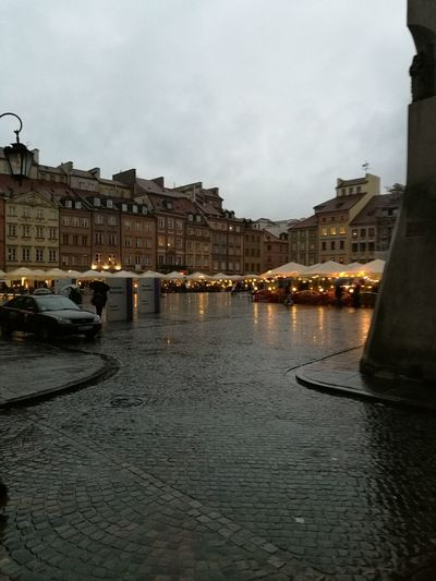 Rainy warsaw Old Town City City Street Cloud - Sky Outdoors Sky Day