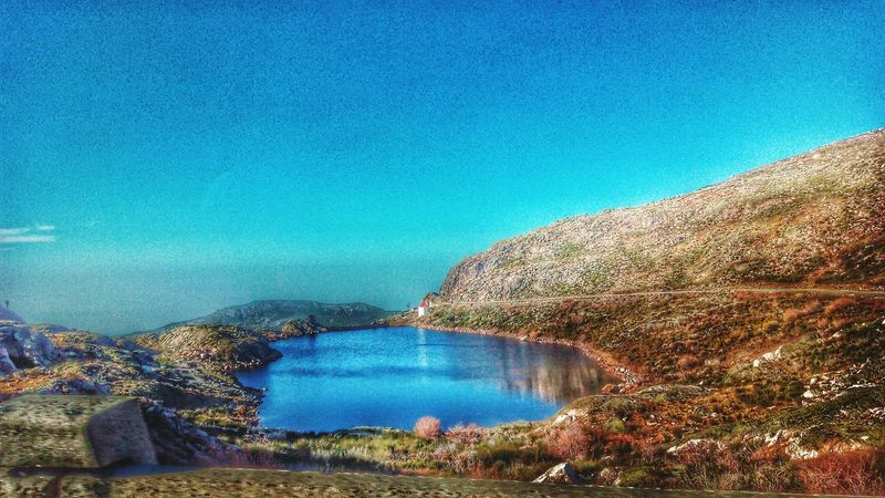 Can't believe I took this photo while on a moving car, back in 2013. Nature Lake Lake View PhonePhotography Blue Sky Blue Lake