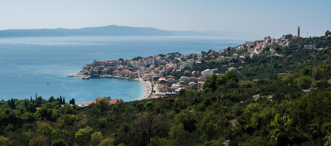 City Cliff Coastline Croatia Croatian Coast Day Harbour High Angle View Islands Landscape Mountain Nature Nautical Vessel Ocean Sea Tree Water