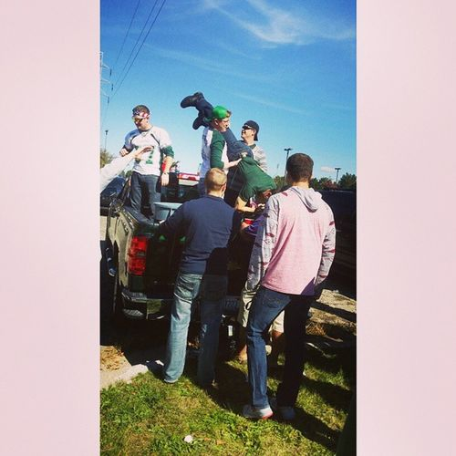 Keg stands for the one time ?? Ididntdoitpeoplegotgerms Emu EasternMichigan Homecoming 2014