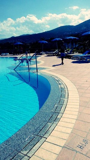 Swimmingpool☀ Blue Outdoors Mountain Day Water Adults Only Swimming Pool Sky Nature Adult People