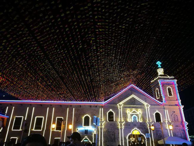 Day one of novena mass. Church Celebration Sinulog Cebu City, Philippines P9photography
