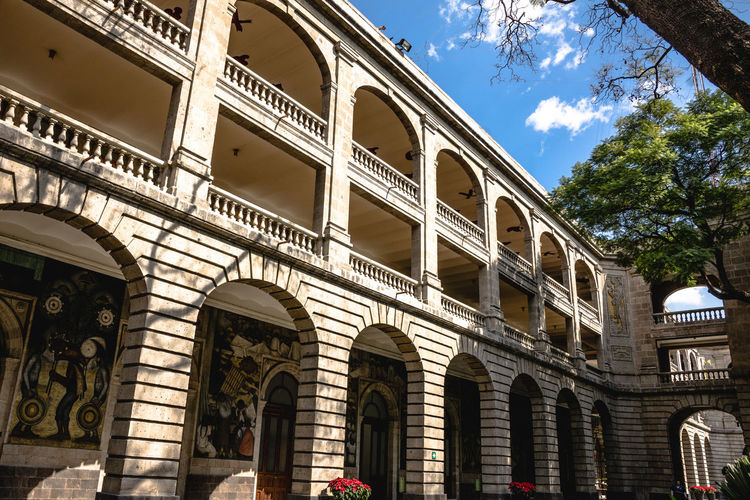 Arch Architecture Architecture Architecture_collection Building Building Exterior Built Structure City Cloud Cloud - Sky Day Downtown Education Façade Government Building Historical Building Low Angle View Mexico City No People Outdoors Residential Building Sky