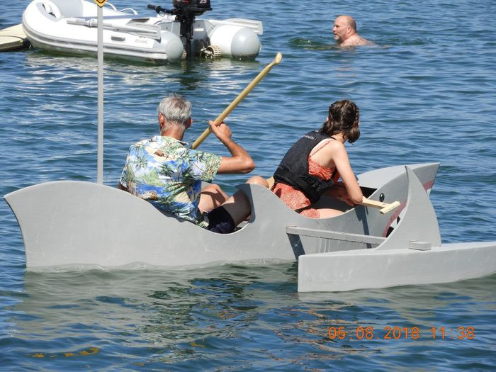 Raft race wells carnival Seaside Fun In The Water Raft Race Water Nautical Vessel Sea Transportation Leisure Activity Mode Of Transportation Lifestyles Real People Day People Adult Men Two People Outdoors Vacations Sailboat Motion Holiday