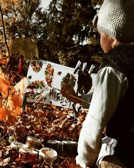 Autumn Autumn Colors Girl Malen Photo