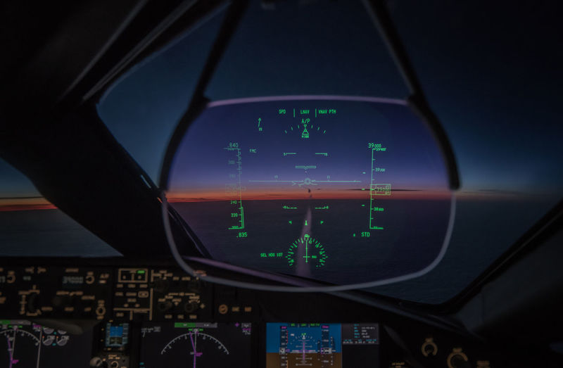 Cruising at 39000 ft, Boeing 787 dreamliner Aerospace Industry Air Vehicle Airplane Boeing Boeing 787 Close-up Cockpit Commercial Airplane Control Panel Dreamliner Illuminated Night No People Sky Technology Transportation Travel Colorful Sky Technology