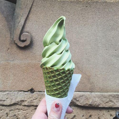 Free Matcha Ice Cream In My Mouf Yay 😋🍦