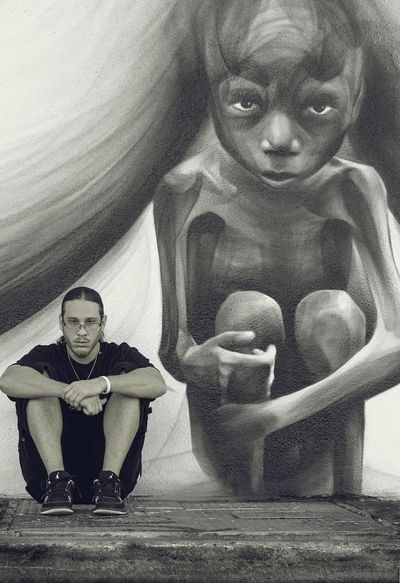 Looking At Camera Adult Art Is Everywhere Wynwood Walls Jsavvy Artist Bwphotography Black And White