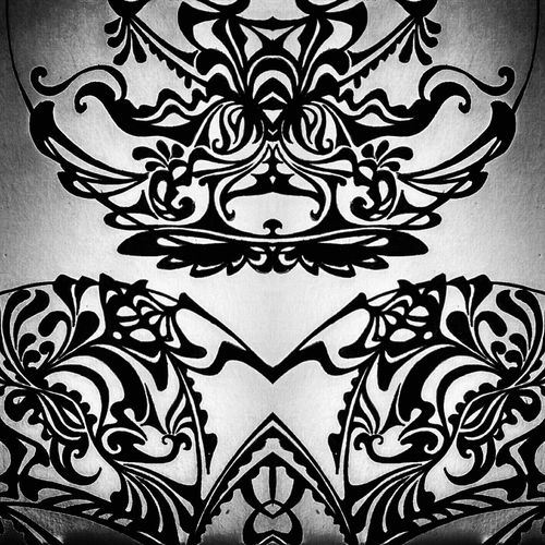 Relaxed drawing at the mirror Pattern Design Symmetry Abstract Floral Pattern No People Silence Moment Black&white Flowerpower Decoration Mydrawings Drawing Time DrawSomething