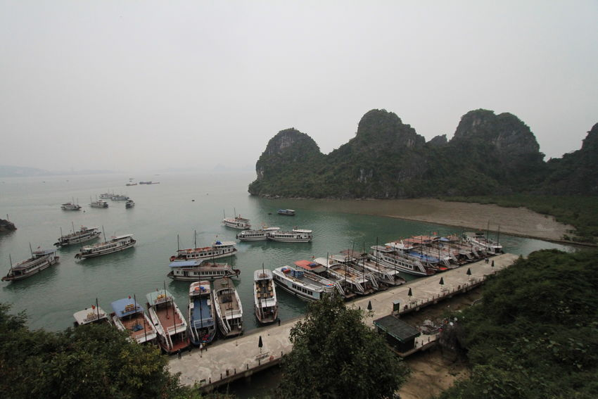 2016 Boat Halong Bay Vietnam Outdoors Sea Sky Traveling Vietnamese