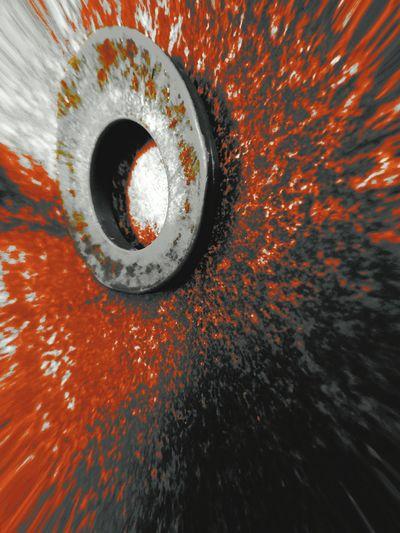 Full frame shot of orange water