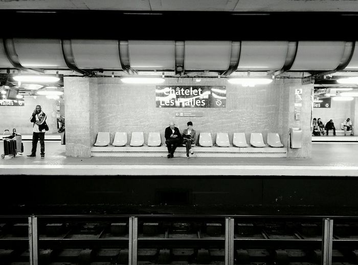 Public Transportation Blackandwhite