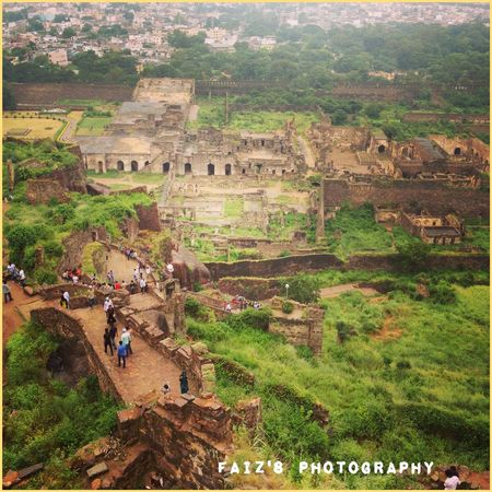 Ancient Civilization Architecture Birdeyeview. First Eyeem Photo Fort Golconda_fort Greenery History Hyderabad Old Ruin Traveller