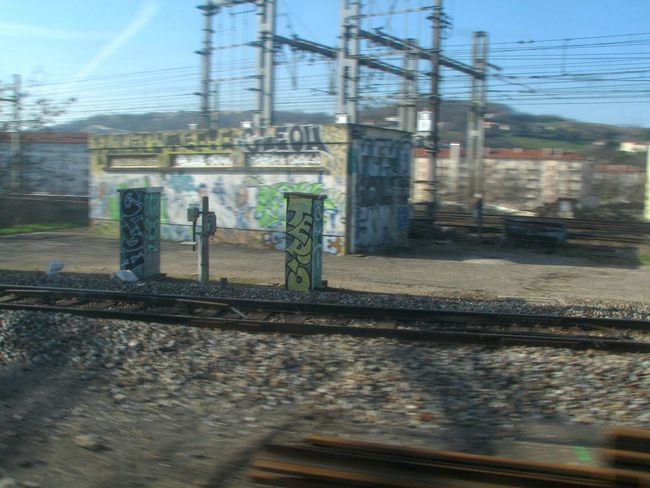 A box. Blurred Motion Cinematography From A Train Window Graffitiporn No Edit/no Filter No People Railroad Track Rive-de-Gier Saint-Chamond Train Train Tracks Trainporn