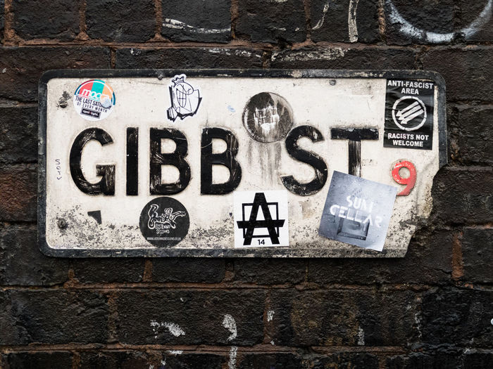 Gibb Street, Birmingham Wall - Building Feature Wall Bricks Street Sign Stickers Stickerart