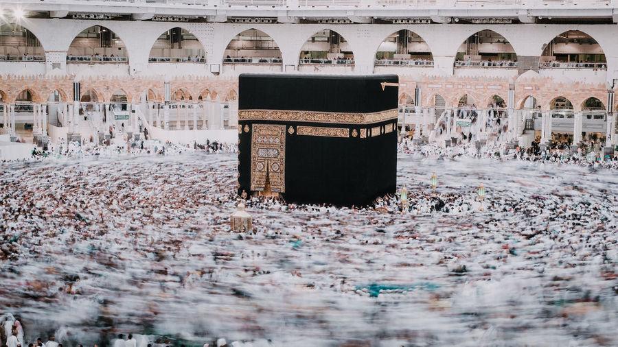 High angle view of mecca