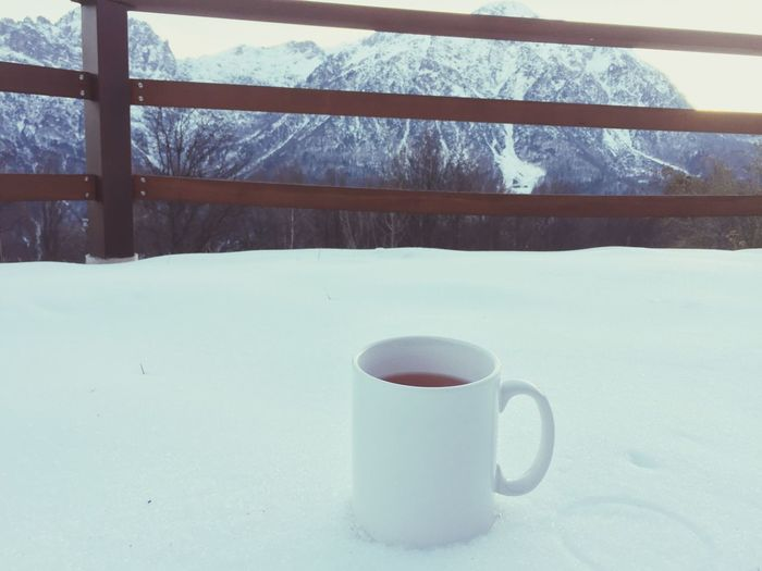 Natale Winter Coffee Cup Cold Temperature Snow Drink Refreshment Window Coffee - Drink Food And Drink No People Indoors  Close-up Day Tea - Hot Drink Freshness