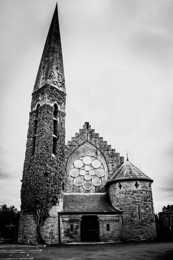 Architecture Religion Built Structure History Spirituality Place Of Worship Building Exterior Travel Destinations Sky Façade No People Low Angle View Day Outdoors Blackandwhite Monochrome Monochrome Photography EyeEm Best Shots Church Blackandwhite Photography Black And White Photography EyeEm Gallery Northern Ireland Christchurch Malephotographerofthemonth