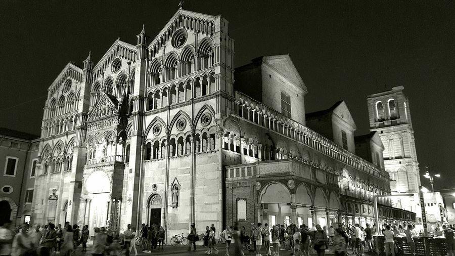 Ferrara Ferrarabynight Ferrara 2015 Duomo Di Ferrara Duomo Medieval City Black & White Black And White Shades Of Grey