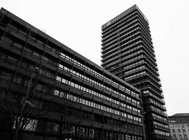 Frankfurt am Main Frankfurt Am Main Skyscraper Skyline Building Mirror Architecture Deutsche Bank