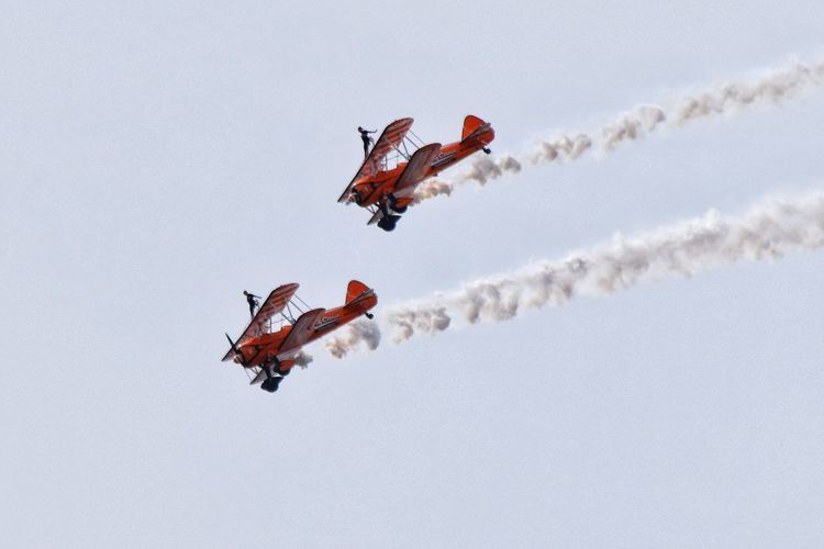 Flying circus Sky Flying Nature Air Vehicle Airplane Day Mode Of Transportation
