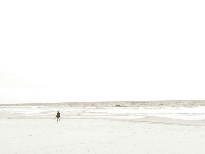 Sea Waves Crashing Watching Waves Walking The Dog Monochrome Photography