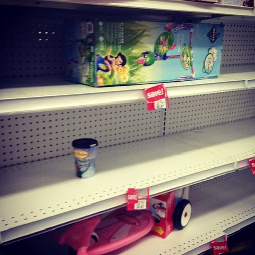 I've been to 4 Toys R Us looking for a specific toy. No luck.