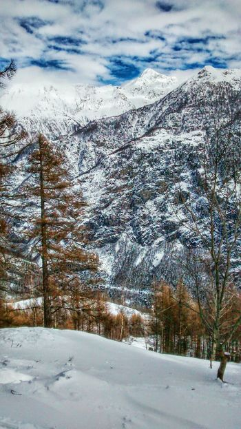 Valchiavenna Mountain Colors Snow Cloud And Sky