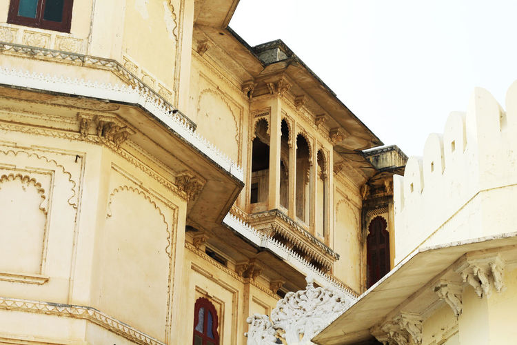 Ancient Ancient Civilization Architectural Column Architecture Building Exterior Built Structure Citypalace Citypalaceudaipur Day History Low Angle View No People Outdoors Sky Travel Destinations Udaipur