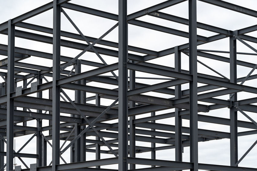 Steel construction Lines SUPPORT Skeleton Abstract Angles Architecture Building Building Exterior Built Structure Confusion Connection Construction Industry Construction Site Day Framework Full Frame Low Angle View Metal No People Outdoors Pattern Steel Steelwork Tangled Web
