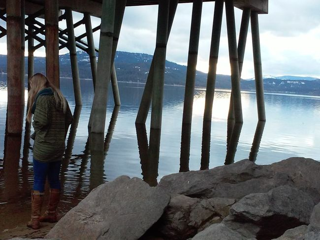 Water Mountain Nature Sky Tranquility Day Sea Scenics Outdoors Cloud - Sky Tranquil Scene Mountain Range Beauty In Nature Majestic Riverbank Lake Bridge Lake Pend Oreille Sandpoint