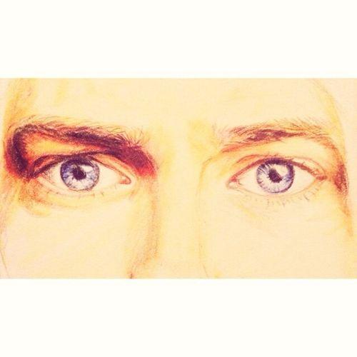 Art Drawing Color Portrait Blue Eyes