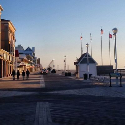 What a morning to be walking the boards.... Oceancitycool OceanCity Maryland Ocmd Boardwalk Exercise Walking
