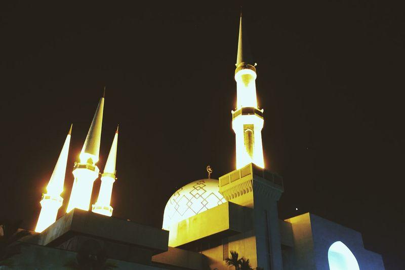 Feeling pious for a moment. Masjid Sultan Ismail,UTM,Johor,Malaysia. Nightshot Masjid Light