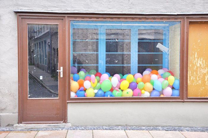 Luftballons Ballons Shop Window Shopping Görlitz Laden Abstract