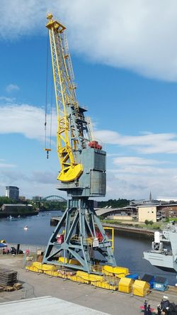 Outdoors Water Crane Built Structure Dock Dockside Quayside Scenics Riverside Photography Architecture View Harbour High Angle View Nautical Vessel Port Scenic View Cityscape Boats Backgrounds Cloud - Sky Bridge Sky